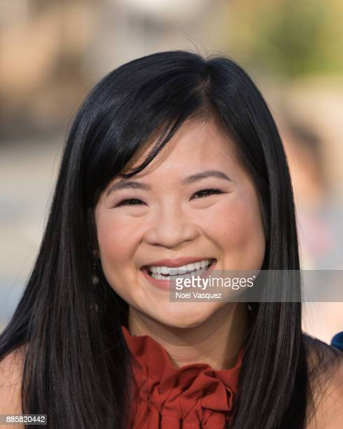 Kelly Marie Tran visits 'Extra' at Universal Studios Hollywood on December 4 2017 in Universal City California