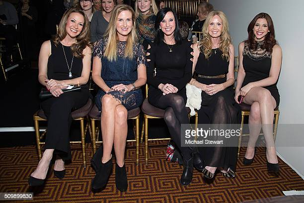 Kelly Masters Korie Robertson Ashley Howard Nelson Chrys Howard and Diana Falzone attend the Sherri Hill Fall 2016 fashion show at Gotham Hall on...
