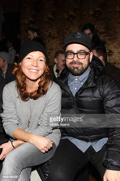Kelly McCabe and Jeff Carvalho attend the Billy Reid Men's fashion show during MercedesBenz Fashion Week Fall 2014 at The Highline Hotel on February...