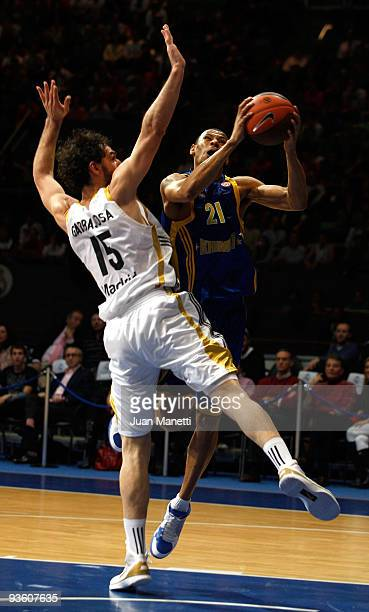 Kelly McCarty #21 of BC Khimki in action during the Euroleague Basketball Regular Season 20092010 Game Day 6 between Real Madrid vs BC Khmiki Moscow...