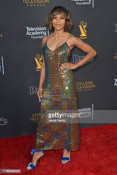 Kelly McCreary attends The Television Academy Foundation's 39th College Television Awards at Wolf Theatre on March 16 2019 in North Hollywood...