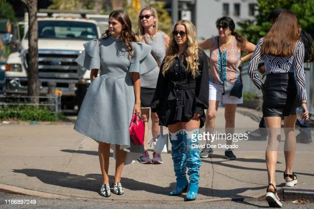 Kelly McFarland and Courtney Seamon at Spring Studios during New York Fashion Week on September 8, 2019 in New York City.