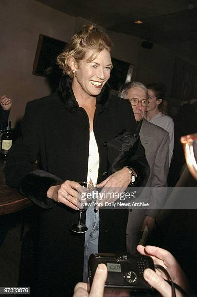 Kelly McGillis attending opening night party for the play The Beauty Queen of Leenane at the Man Ray restaurant