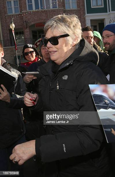 Kelly McGillis is seen walking Main street on January 19 2013 in Park City Utah