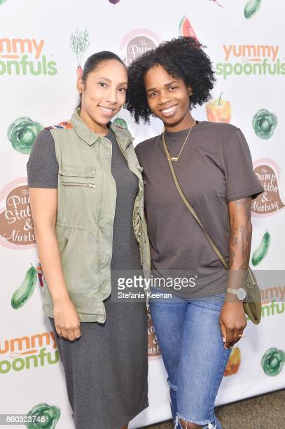 Kelly McKnight and Ashley Chea attend First Foods 101/Yummy Spoonfuls at Pump Station Nurtury on October 11 2017 in Los Angeles California
