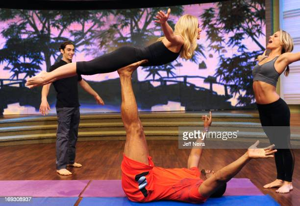 MICHAEL 5/17/13 'Kelly Michael's Fitness Challenge Week' comes to a close as they learn the fine art of Acro Yoga from Chelsey Korus Matt Giordano on...
