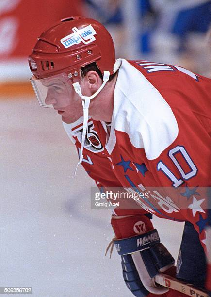 Kelly Miller of the Washington Capitals skates in warmup prior to a game against the Toronto Maple Leafs at Maple Leaf Gardens in Toronto Ontario...
