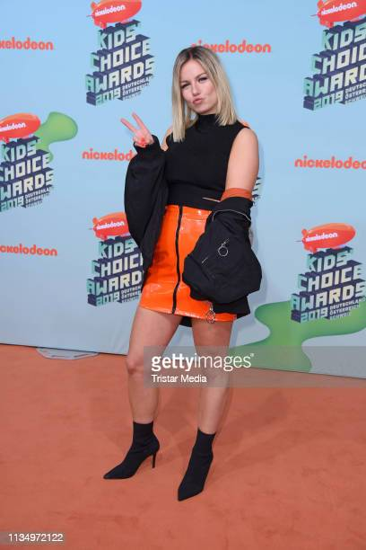 Kelly MissesVlog attends the Nickelodeon Kids Choice Awards on April 4 2019 in Rust Germany