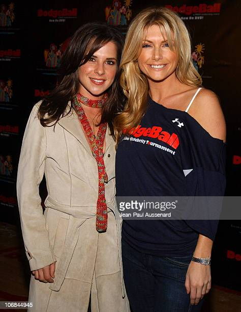 Kelly Monaco and Brande Roderick during Dodgeball The Celebrity Tournament to Benefit The Elizabeth Glaser Pediatric Aids Foundation Arrivals at...