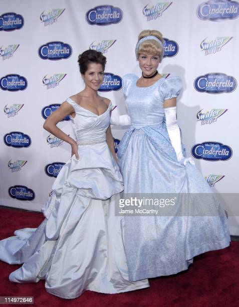 "Kelly Monaco and Cinderella during Swiffer Wetjet Presents the ""Cinderella"" DVD Release and Royal Ball - Red Carpet at Ziegfeld Theatre in New York..."