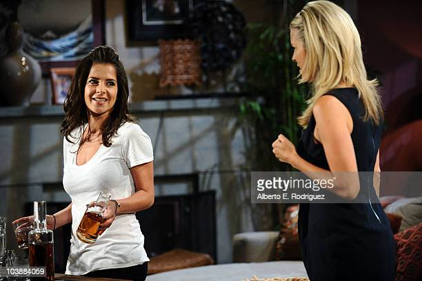 Kelly Monaco and Laura Wright in a scene that airs the week of September 27 2010 on ABC's GENERAL HOSPITAL