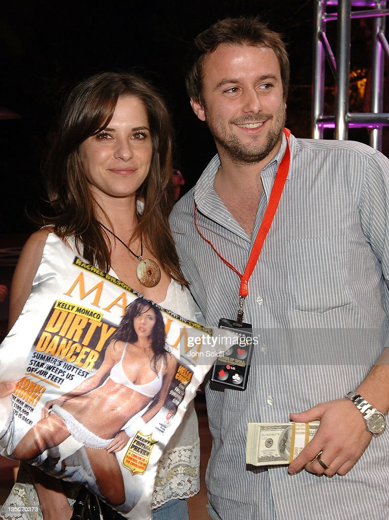 Kelly Monaco and Robert Badgley, winner during Maxim 100th Issue Weekend - Poker Tournament in Las Vegas, Nevada, United States.