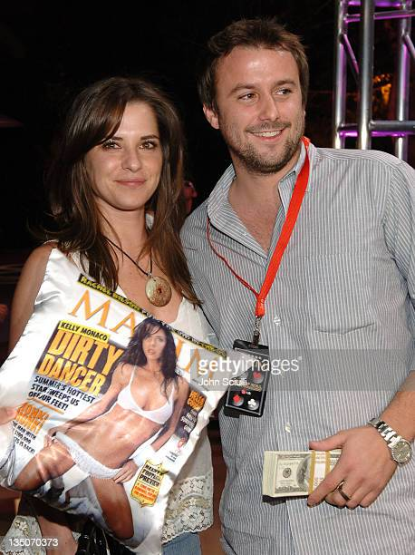 Kelly Monaco and Robert Badgley winner during Maxim 100th Issue Weekend Poker Tournament in Las Vegas Nevada United States
