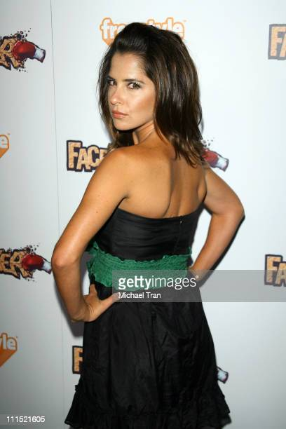 Kelly Monaco arrives to the EA Sports Freestyle party for the 'Facebreaker' videogame launch event held at Avalon Nightclub on September 3 2008 in...