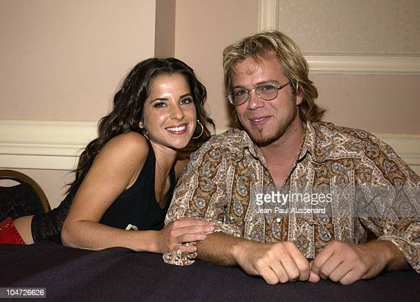 Kelly Monaco Brian Gaskill during ABC's 'Port Charles' Fan Day at Sportsman's Lodge in Studio City California United States