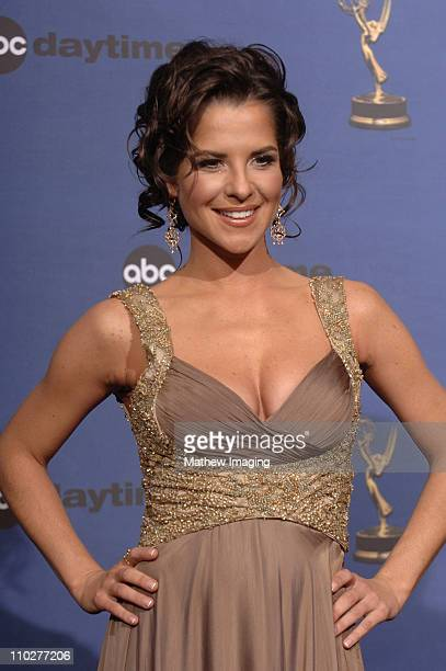 Kelly Monaco cohost during 33rd Annual Daytime Emmy Awards Press Room at Kodak Theater in Hollywood California United States