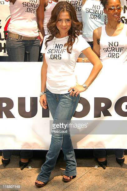 Kelly Monaco during Kelly Monaco and Brooke Burke Lead NO SCRUFForg Rally to Protest Scruffy Guys Outside July 11 2006 at Greeley Square in New York...