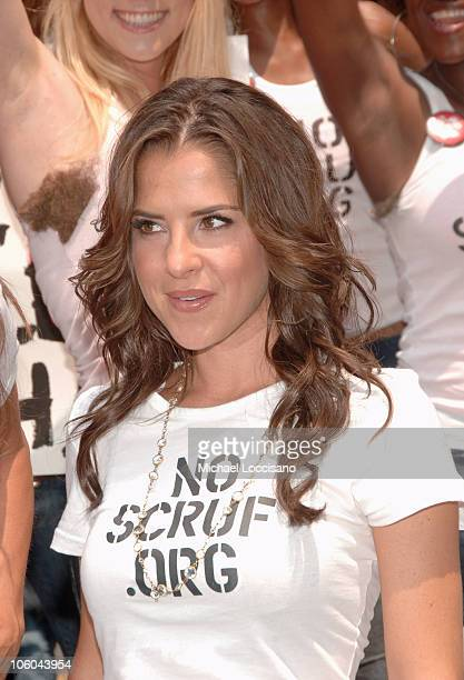 Kelly Monaco during Kelly Monaco and Brooke Burke Rally for NoScruforg at Greeley Square in New York City New York United States
