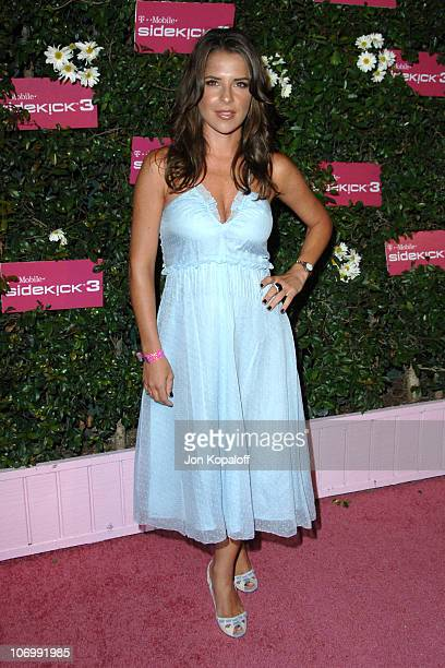 Kelly Monaco during TMobile Sidekick 3 Launch Arrivals at 6215 Sunset Blvd in Hollywood California United States