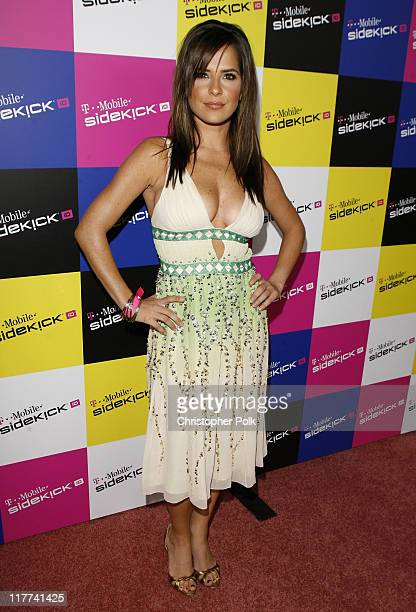 Kelly Monaco during TMobile Sidekick iD Launch Arrivals in Los Angeles California United States
