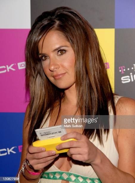 Kelly Monaco during TMobile SIDEKICK iD Launch at TMobile Sidekick Lot in Hollywood California United States