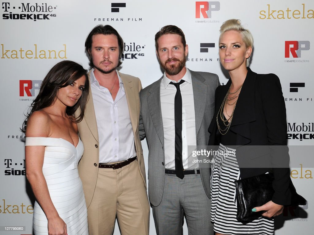 Kelly Monaco, Heath Freeman, Anthony Burns and Casey Binkley attend the 'Skateland' after party on May 11, 2011 in Hollywood, California.