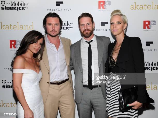 Kelly Monaco Heath Freeman Anthony Burns and Casey Binkley attend the 'Skateland' after party on May 11 2011 in Hollywood California