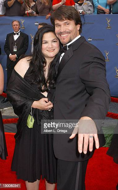 Kelly Moneymaker and Peter Reckell during 33rd Annual Daytime Emmy Awards Arrivals at Kodak Theatre in Hollywood CA United States