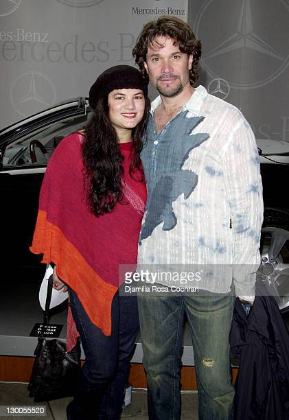 Kelly Moneymaker and Peter Reckell during MercedesBenz Fashion Week Spring 2004 Rosa Cha Front Row at Bryant Park in New York City New York United...