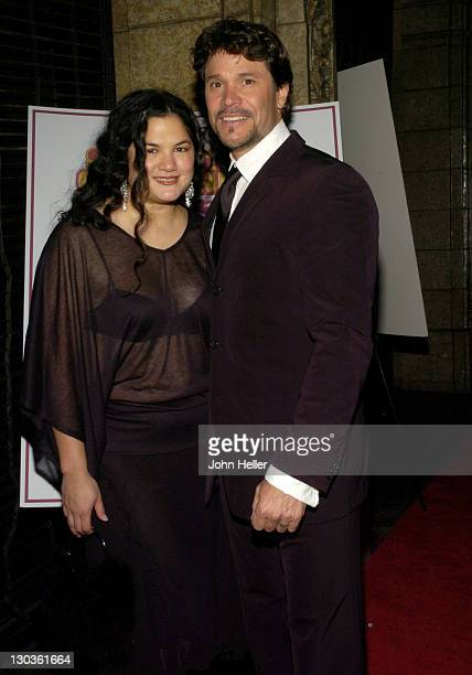 Kelly Moneymaker and Peter Reckell during Super Size Me Oscar Party at CINESPACE in Hollywood California United States