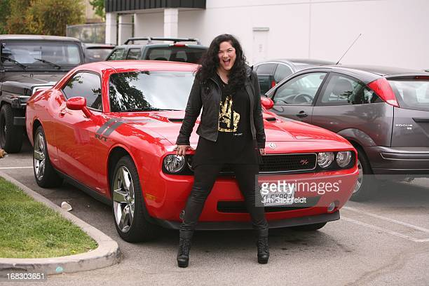 Kelly Moneymaker of the band Expose poses at the Guitar Center Studios in Woodland Hills California on April 14 2013