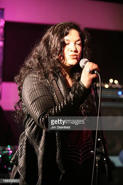 Kelly Moneymaker of the band Expose rehearses with her new band at the Guitar Center Studios in Woodland Hills California on April 14 2013
