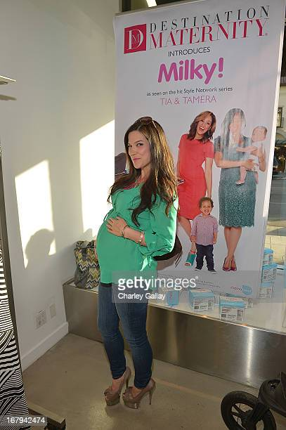 Kelly Nishimoto attends the Milky launch event at A Pea In The Pod on May 2 2013 in Beverly Hills California
