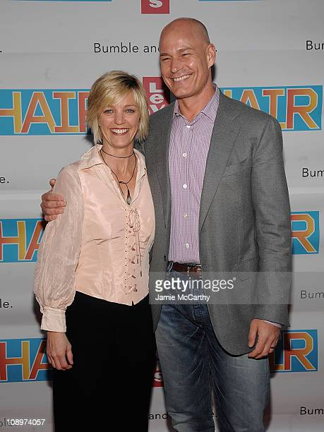 Kelly O'Donnell and Levi's President Robert Hanson attend the Broadway Premiere of Hair hosted by Levi's at Al Hirschfeld Theatre on March 31, 2009...