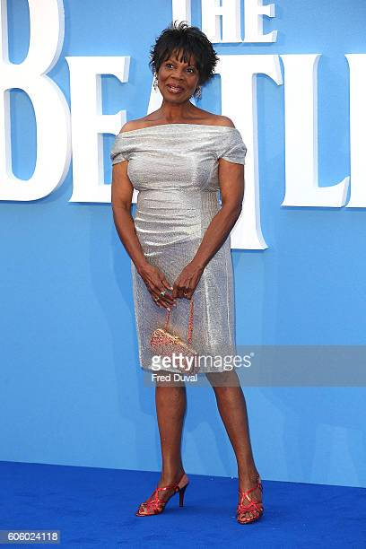 Kelly Oliver arrive for the World premiere of 'The Beatles Eight Days A Week The Touring Years' at Odeon Leicester Square on September 15 2016 in...