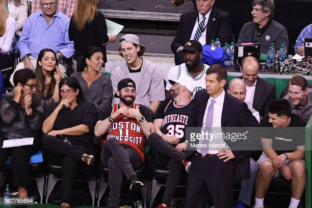 Kelly Olynyk attends the game between the Cleveland Cavaliers and the Boston Celtics on Game Five of the 2018 NBA Eastern Conference Finals on May 23...