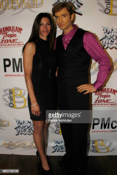 Kelly O'Malley Mattone and John Basedow attend Boulevard Magazine Cover Party at Hawaiian Tropic Zone Restaurant on July 15, 2009 in New York City.