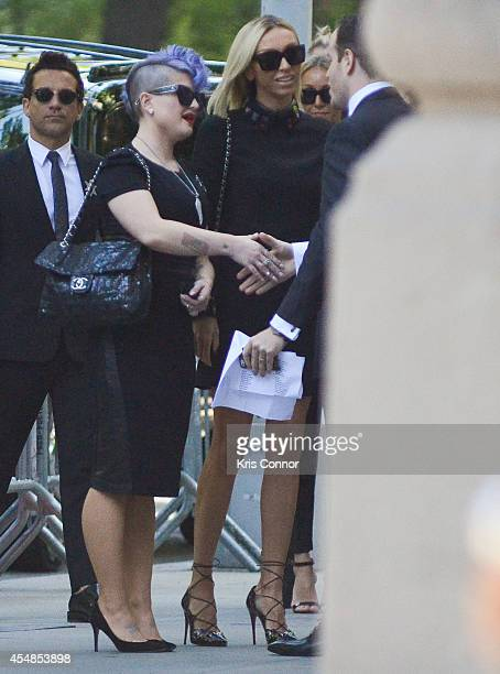 Kelly Osborne and Giuliana Rancic attend the Joan Rivers memorial service at Temple EmanuEl on September 7 2014 in New York City