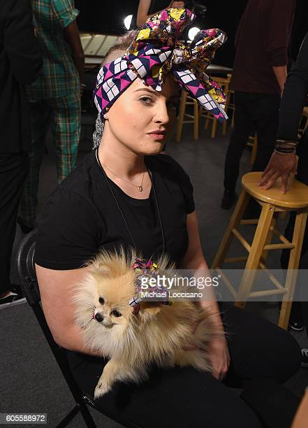 Kelly Osborne prepares backstage at the Xuly Bet fashion show during September 2016 New York Fashion Week The Shows at The Dock Skylight at Moynihan...