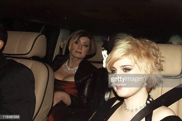 Kelly Osbournce and Sharon Osbourne during Sir Elton John and David Furnish's Civil Partnership Ceremony Reception Arrivals at Windsor Guildhall in...