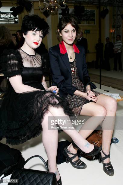 Kelly Osbourne and Alexa Chung are seated in front row for the Luella LFW Autumn/Winter 2008 show at Claridges Hotel on February 14 2008 in London...