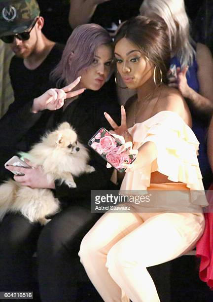 Kelly Osbourne and Bonang Matheba attend the John Paul Ataker fashion show during New York Fashion Week The Shows at The Dock Skylight at Moynihan...