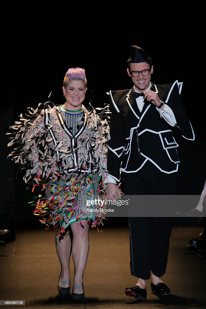Kelly Osbourne and Brad Goreski walk the runway at Naomi Campbell's Fashion For Relief Charity Fashion Show during Mercedes-Benz Fashion Week Fall 2015 at The Theatre at Lincoln Center on February 14, 2015 in New York City
