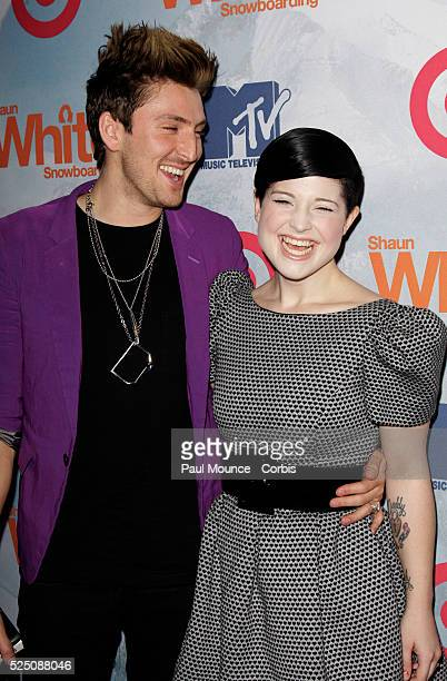 Kelly Osbourne and British fashion designer Henry Holland arrive at the launch party for Ubisoft's new video game Shaun White Snowboarding held at...
