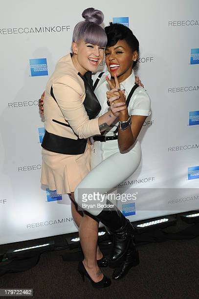 Kelly Osbourne and Janelle Monae pose at American Express UNSTAGED with Rebecca Minkoff And Janelle Monae at Lincoln Center on September 6 2013 in...