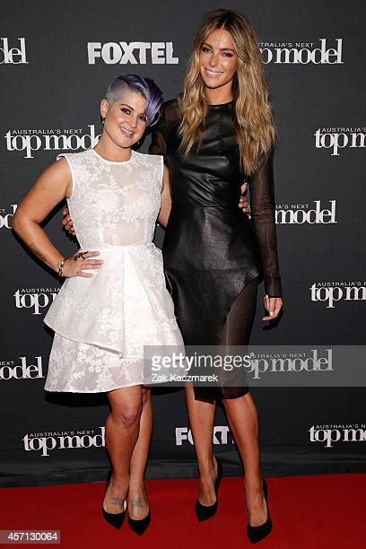 Kelly Osbourne and Jennifer Hawkins pose for the announcement that Kelly Osbourne will be Australia's Next Top Model guest judge at the film set in...