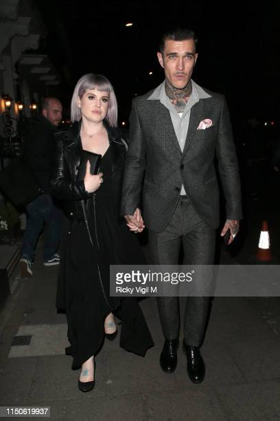 """Kelly Osbourne and Jimmy Q seen at """"Rocketman"""" - UK film afterparty at Little House in Mayfair on May 20, 2019 in London, England."""