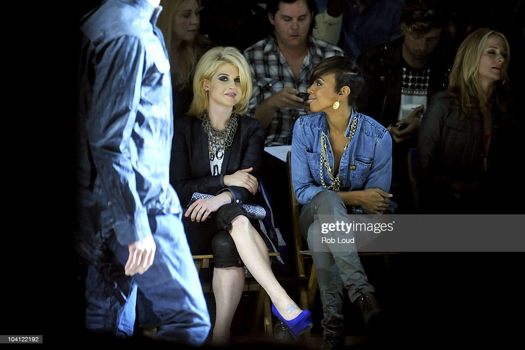 Kelly Osbourne and Kelly Rowland attend the G-Star Spring 2011 fashion show during Mercedes-Benz Fashion Week at Pier 94 on September 14, 2010 in New York City.