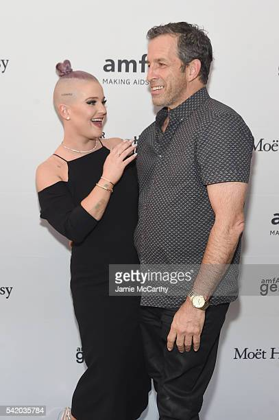 Kelly Osbourne and Kenneth Cole attend the amfAR generationCure Solstice 2016 on June 21 2016 in New York City
