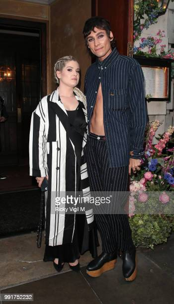 Kelly Osbourne and Kyle De Volle seen attending Gay Times Pride Dinner at The Ivy Market Grill on July 4 2018 in London England